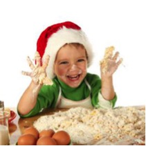child santa flour